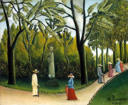 Henri Rousseau. Luxembourg gardens