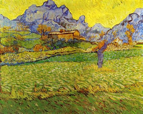 Винсент Ван Гог. Луг в горах