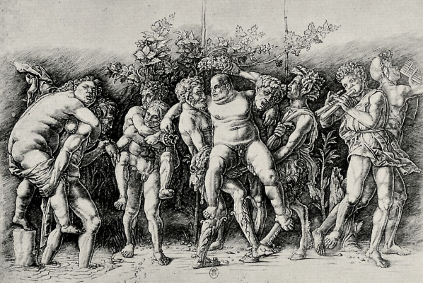 Andrea Mantegna. Bacchanal with Silenus