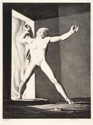 """Рокуэлл Кент. Иллюстрация к эпической поэме """"Беовульф"""""""
