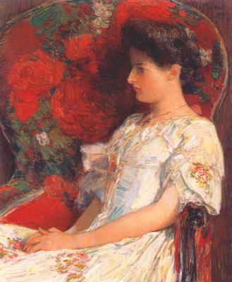 Childe Hassam. Victorian chair