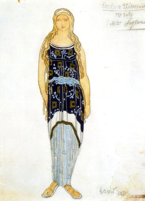 "Lev (Leon) Bakst. Costume design for the tragedy ""Fedra"""