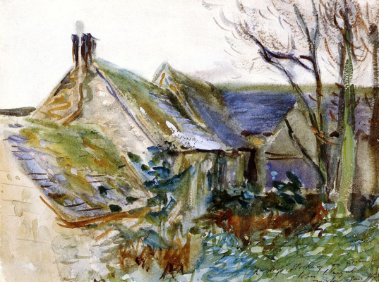 John Singer Sargent. Cottage at Fairford, Gloucestershire