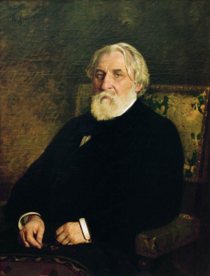Ilya Efimovich Repin. Portrait of the writer IS. Turgenev