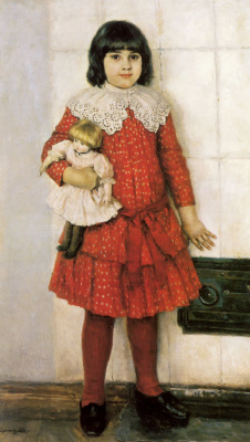 Vasily Ivanovich Surikov. Portrait of Olga Vasilievna Surikova, daughter of the artist, childhood
