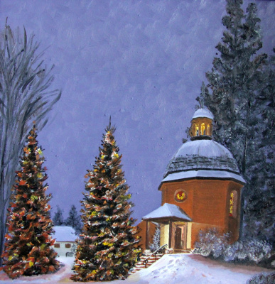 Lyudmila Nikolaevna Yevtushenko. Chapel on Christmas night