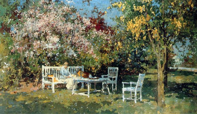 Корнелис Вриденбург. Сад с цветущими деревьями