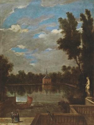 Juan Batista Martinez del Maso. Pond in the garden near the palace