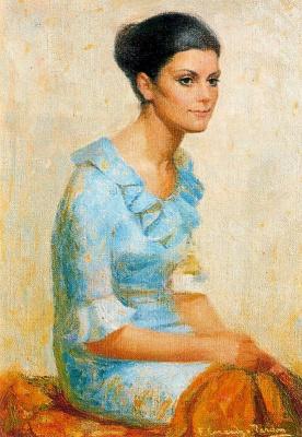 Франциско Лоренцо Тардон. Портрет женщины в голубом платье