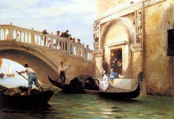 Выезд на набережную в Венеции