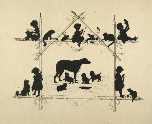 Елизавета Меркурьевна Бём (Эндаурова). Жанровых сцен с детьми и животными. 1875 21,5 х 26