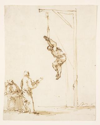 Хосе де Рибера. Сцена инквизиции