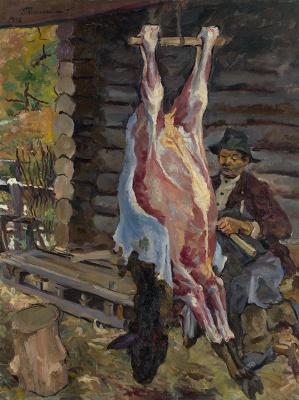 Petr Petrovich Konchalovsky. The carcass of a calf