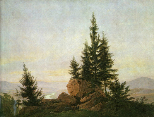 Caspar David Friedrich. View of the Elbe Valley