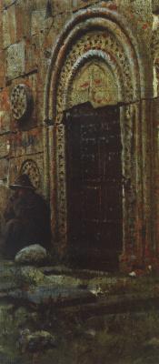 Vasily Vasilyevich Vereshchagin. The entrance door to the Church near Kazbek
