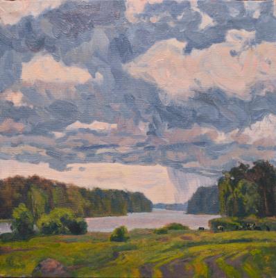 Ilya Andreevich Kozlov. White Kamenka. Cloud is coming