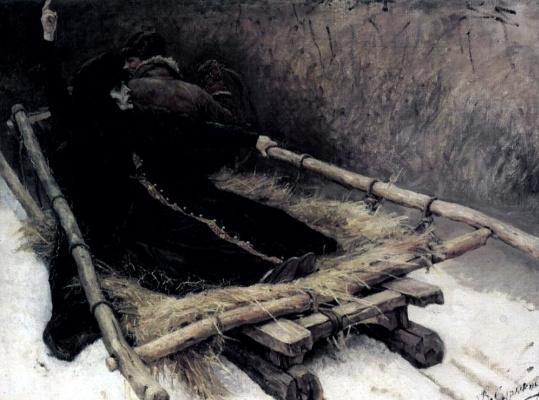 Василий Иванович Суриков. Боярыня Морозова (эскиз, сани)