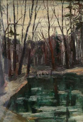 Vladimir Ilyich Portyanoy. By the pond