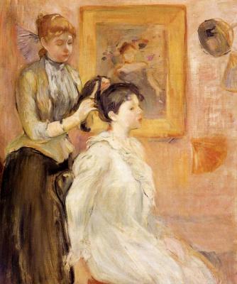Berthe Morisot. Hairstyle