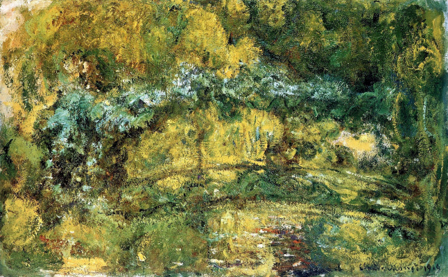 Claude Monet. The Japanese bridge (Bridge over a pond with water lilies)