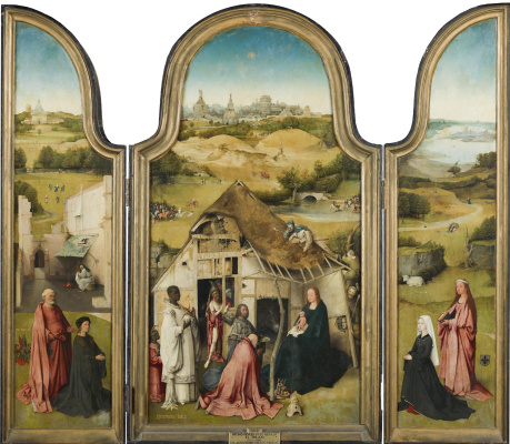 Hieronymus Bosch. The adoration of the Magi. Triptych
