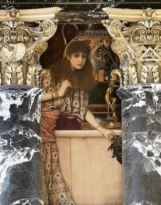 Густав Климт. Древняя Греция. Девушка из Танагре (Роспись для музея истории искусств, Вена)
