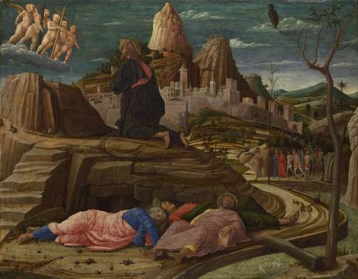 Andrea Mantegna. Agony in the garden (Christ on the mount of olives)