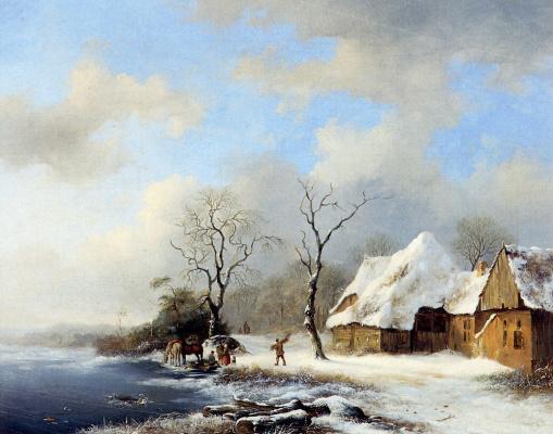Фредерик Мариан Крусеман. Зимний пейзаж