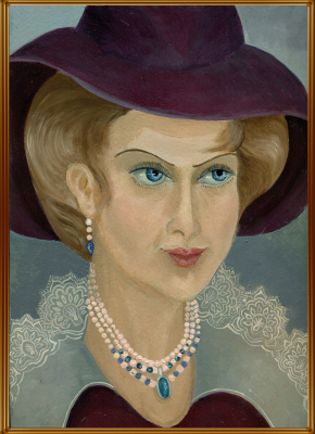 Vladimir Pavlovich Parkin. Portrait of Angela Kiprida