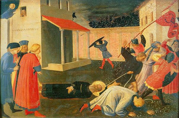 Fra Beato Angelico. Linayolskaya tabernacle. Fragment: The Martyrdom of St. Mark