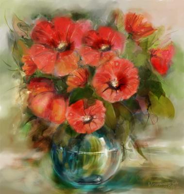 Galiyar Mingachev. Nasturtium bouquet