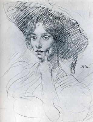 Джон Август. Дама в шляпе