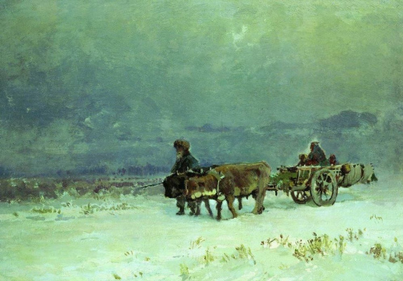 Fedor Alexandrovich Vasilyev. Winter in the Crimea