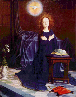 Герард Давид. Благовещение Деве Марии