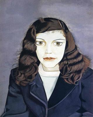 Люсьен Фрейд. Девушка в темном пальто