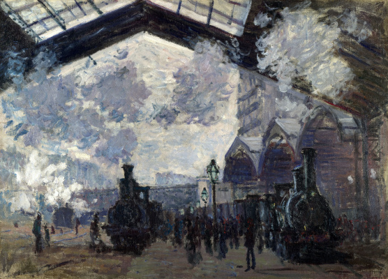 Claude Monet. The Gare Saint-Lazare