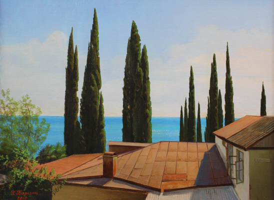 Gennady Shotovich Bartsits. Cypresses in Gagra