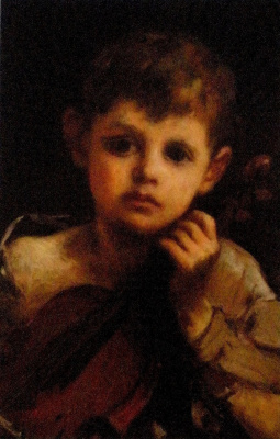 Уильям Моррис Хант. Мальчик со скрипкой