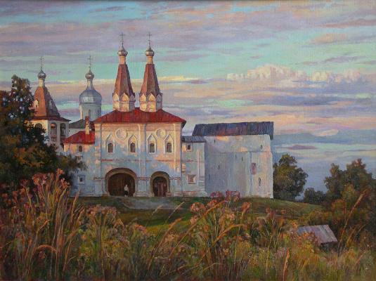Oleg Borisovich Zakharov. Blossoms in the evening. Ferapontovo.