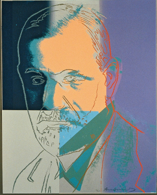 "Andy Warhol. Portrait of Sigmund Freud from the ""Ten famous Jews of the twentieth century"""