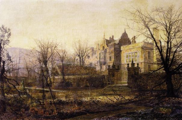 John Atkinson Grimshaw. Early morning, Knostrop Hall