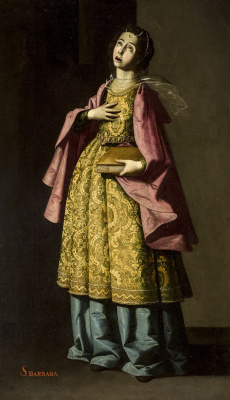 Francisco de Zurbaran. Saint Barbara