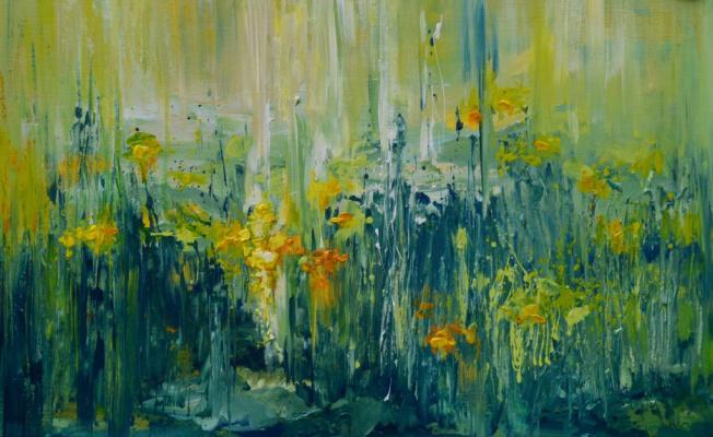"""Tanya Vasilenko. """"Dandelions"""", acrylic on canvas. Dandelions. Acrylic on canvas."""