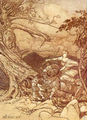 Артур Рэкхэм. Богиня Фрика
