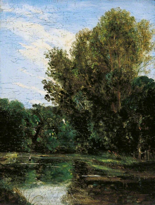 John Constable. Hampstead Ponds, London. Art Gallery, Leeds.