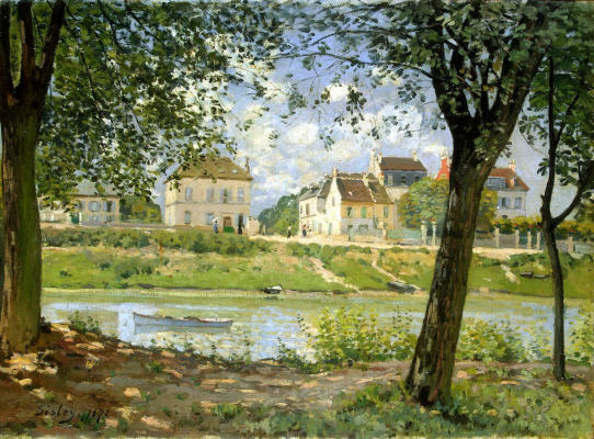 Alfred Sisley. The town of Villeneuve-La-Garenne