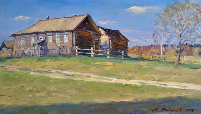 Alexander Victorovich Shevelyov. Karelian house. oil on canvas 30 # 52 see 2008