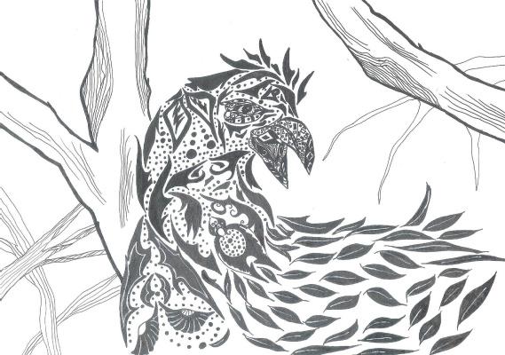 "Николай Николаевич Оларь. Series of stylized drawings, ""Birds"" (11)"