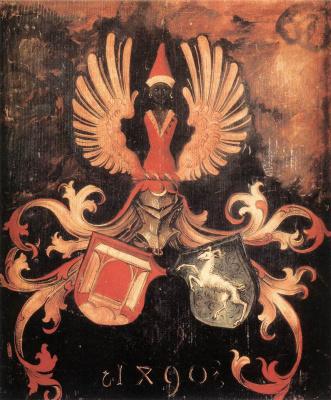 Альбрехт Дюрер. Объединенный герб семей Дюрера и Холтера