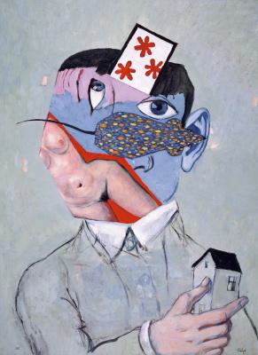 """Victor Dmitrievich Pivovarov. Self portrait. Cycle """"Grotesque"""""""